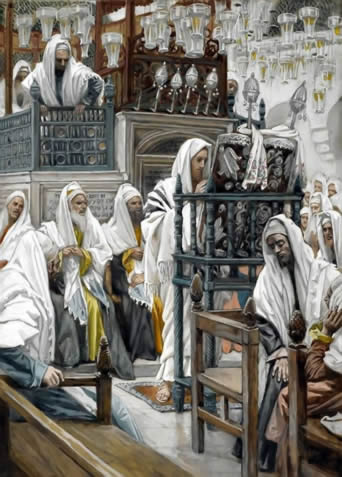 Jesus teaching in Synagogue