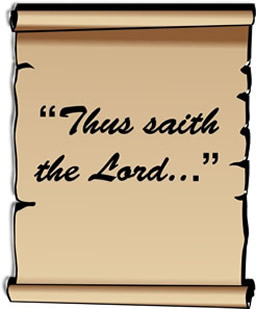 Thus saith the Lord