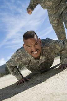 Soldier doing pushup