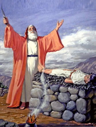 Abraham offers Isaac